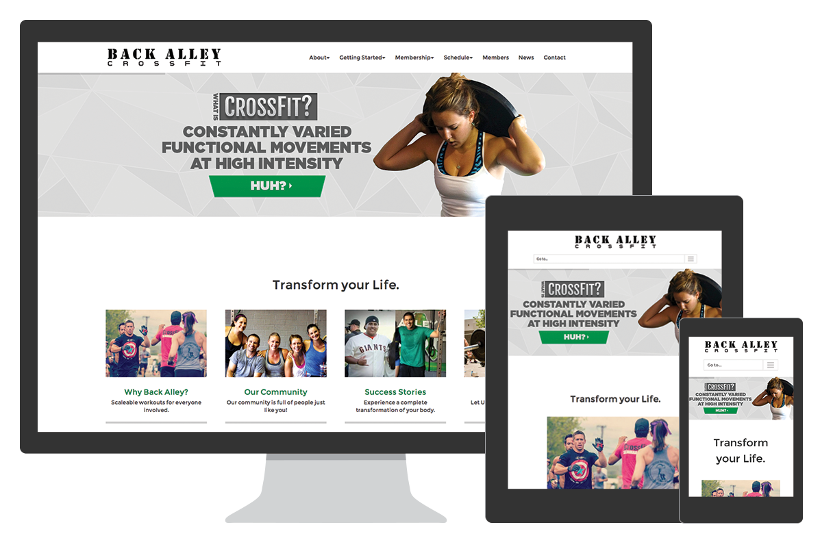 backalley CrossFit website